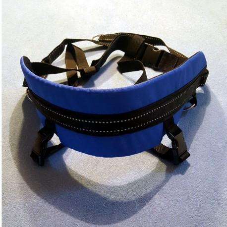 Laufgurt Canicross blau mit Beinschlaufen