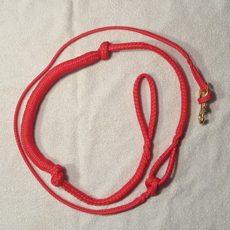 Zugleine 2.5m rot (1-Hund)