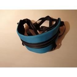 Laufgurt Canicross hellblau mit Beinschlaufen