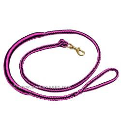 Laisse de Canicross pink-noire 2m