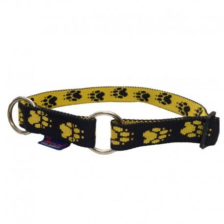 Halsband Pfötchen schwarz-gelb ZERO DC