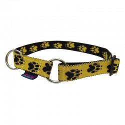Halsband Pfötchen gelb-schwarz ZERO DC