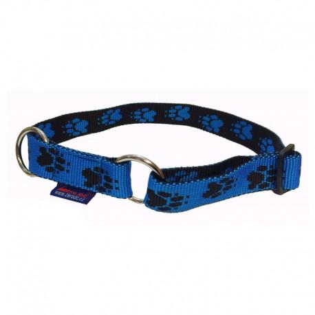 Halsband Pfötchen blau-schwarz ZERO DC