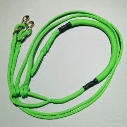 Zugleine 2.5m grün Ultra-Light (2-Hunde)
