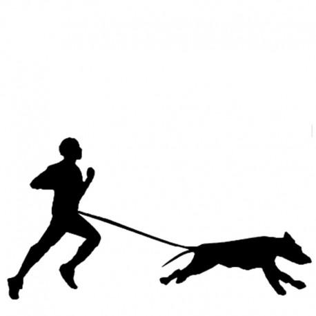 Aufkleber Canicross Läufer