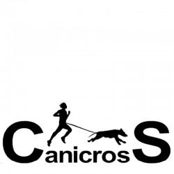 Aufkleber Canicross & Text