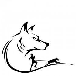 Aufkleber Wolf & Canicross