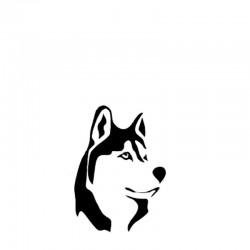 Aufkleber Husky
