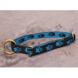 Halsband schwarz & blaue Pfötchen