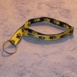Collier semi-étrangleur jaune & pattes noires