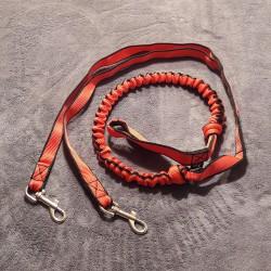 Zugleine 2.5m rot (2-Hunde) NEGRO TEAM