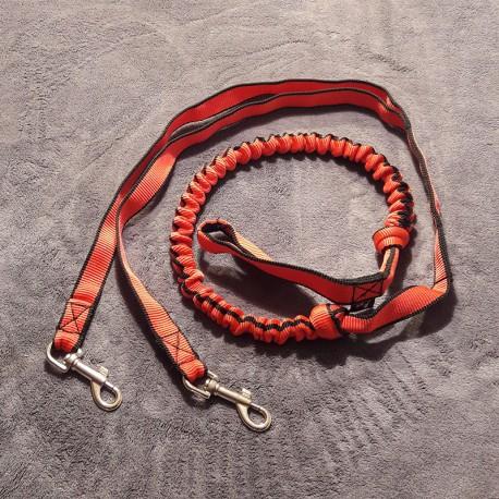Ligne de trait 2.5m rouge (2-chiens) NEGRO TEAM