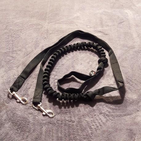 Zugleine 2.5m schwarz (2-Hunde) NEGRO TEAM