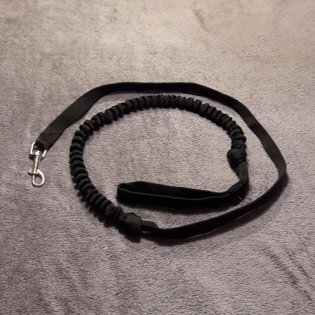 Zugleine 2.5m schwarz (1-Hund) NEGRO TEAM